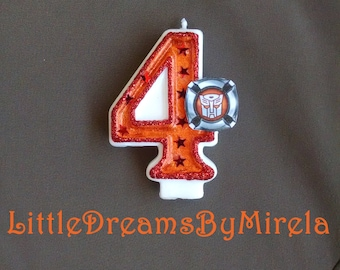Rescue Bots / Transformers / Birthday Candle / Cake Topper / Keepsake / Any Number