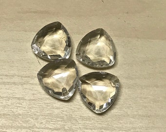 Triangle Crystal Pendant - 18mm - (A)