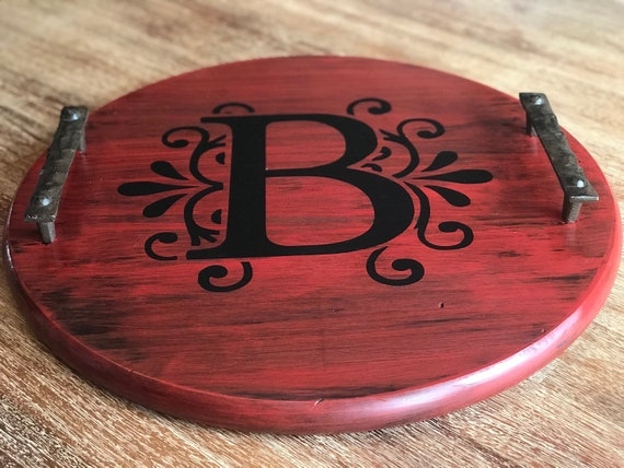 Fantastic Custom Round Barrel Lid Wood Tray Rustic Serving Tray Wooden Tray With Handles Wood Tray Personalized Gifts Ottoman Tray Farm House Gmtry Best Dining Table And Chair Ideas Images Gmtryco