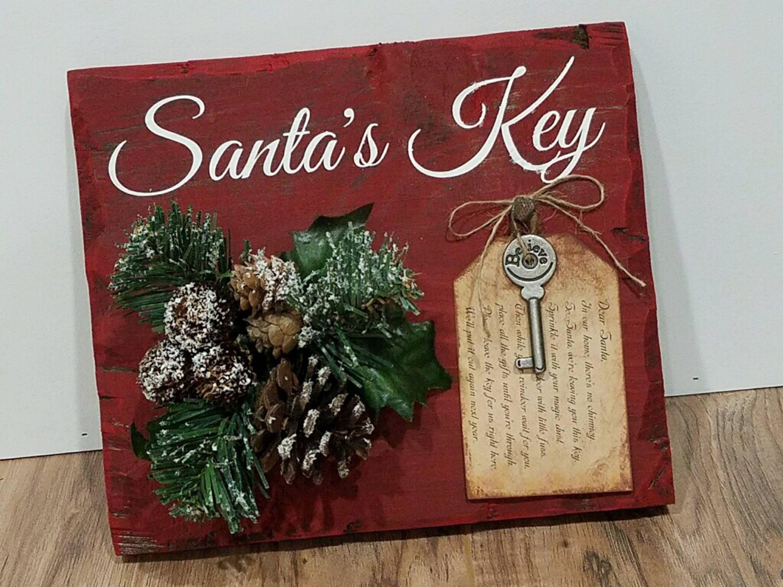 Santa magic key sign santas magic key sign christmas sign etsy image 0 m4hsunfo