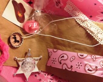 Cowgirl Favor Bags, Cowgirl Birthday, Cowgirl Favors, Girl Birthday, Pink Cowgirl Birthday