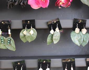 Elle Rose Leaf Earrings
