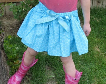 Blue Polka Dot Skirt For Little Girls that love to twirl