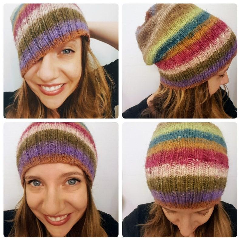 cef16804e Multi Colored Snuggle Slouch Hat