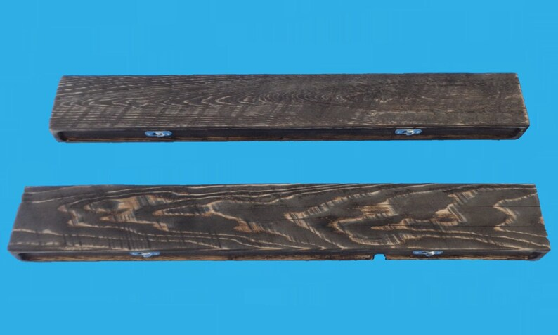 Wandplank 30 Diep.30 Inch Recycled Wood Floating Shelf 4 Deep And 2 Thick Colonial Pine Stain 528 30