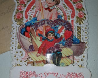 1930's Vintage 3-D Valentine card with original envelope