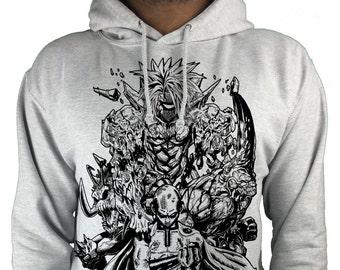 One Punch Man hoodie anime/ manga Saitama premium sweatshirt
