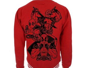 Deadpool jacket merc with a mouth samurai gunslinger marvel college jacket sweatshirt