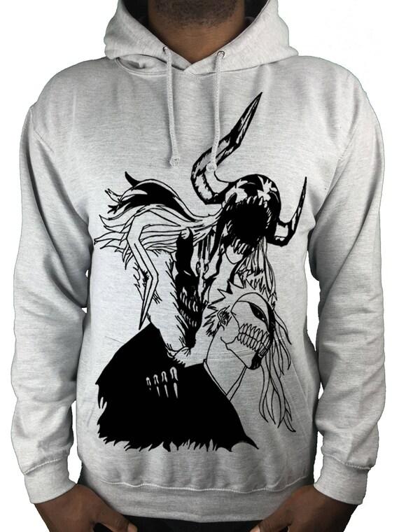 Bleach hoodie sweatshirt anime/ manga kurosaki ichigo hollow ichigo jbypMuf