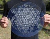 Metatron 39 s Cube Second Expansion Laser Cut Crystal Grid Artwork