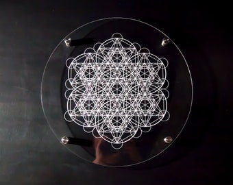 Metatron's Cube Third Expansion Artwork - Decorative Standoff Frame for Home or Studio