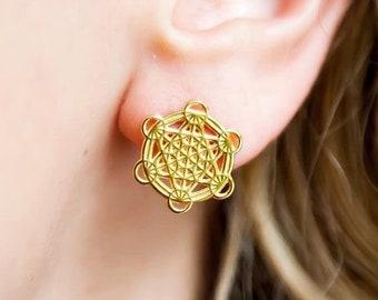 Metatron Grid Stud Earrings