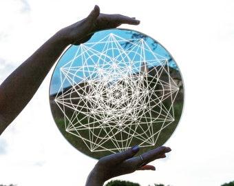 Sacred Geometry Flower Laser Cut Crystal Grid