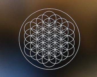 Flower of Life 37 Circles Laser Cut Crystal Grid