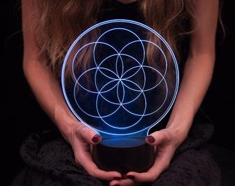 Seed of Life LED Lamp Crystal Grid