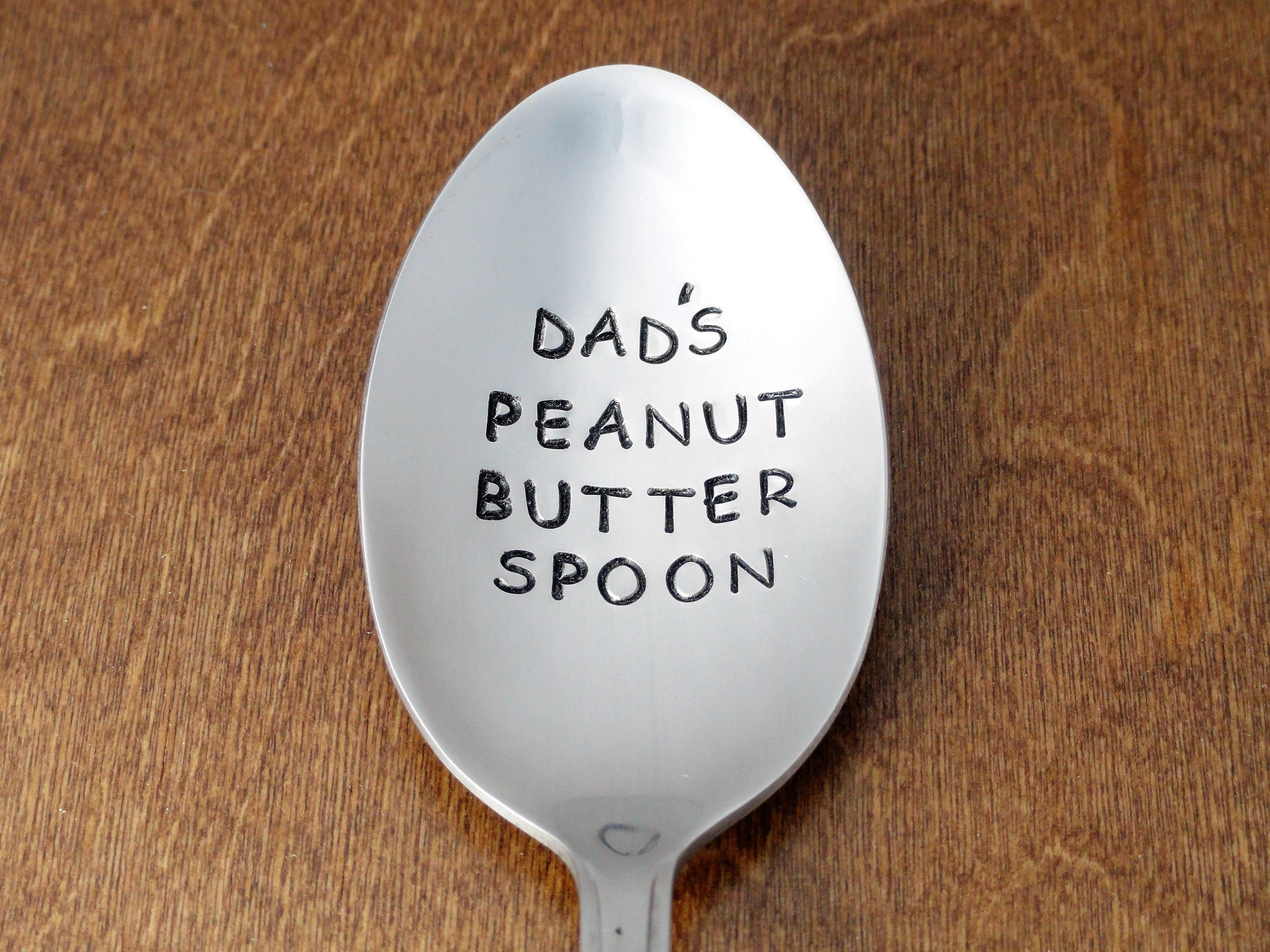 Dad Gift Dads Peanut Butter Spoon Hand Stamped Birthday Gifts For Fathers Day Christmas