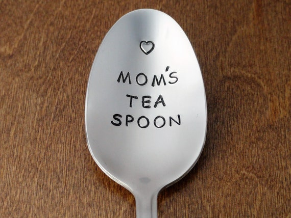Mom/'s Tea Spoon Hand Stamped Spoon Stainless Steel Silverware Unique Birthday Gifts For Mom For Wife Anniversary Gift Mother/'s Day Gift