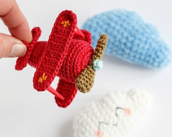 Amigurumi Plane • Crochet vintage Plane Tutorial • CROCHET PDF PATTERN