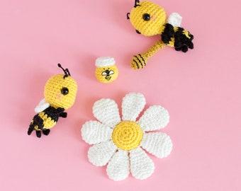 Bee Crochet Pattern • Amigurumi Crochet Bee • Amigurumi Bee Tutorial • PDF Crochet Tutorial