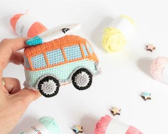 Amigurumi Camper Bus Vintage Vehicle Toy CROCHET PDF PATTERN