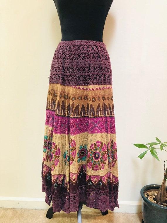 Bohemian Skirt, Boho Skirt, Festival Skirt, Hippie