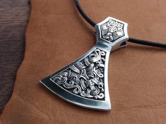 Viking Hacha En Plata 925 Aros Pendientes
