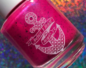 One in a Melon - Neon, Shimmer, Flakies nail polish