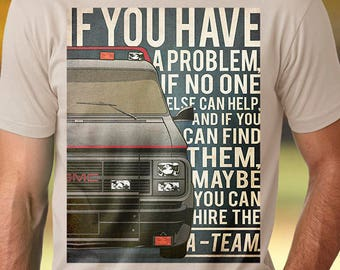 A-Team t-shirt men GMC Vandura tshirt Car tshirt A-Team tshirt GMC t-shirt A-Team t shirt GMC Vandura tee
