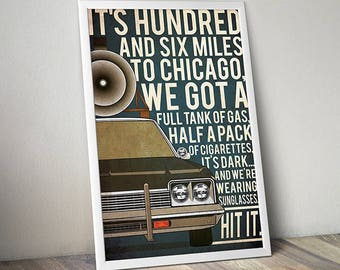Blues Brothers poster alternative poster 80s movie poster