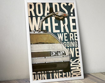 Back To The Future movie poster Back To The Future print Back To The Future art