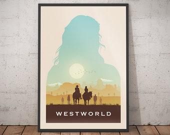 b869e02aab Westworld poster alternative tv show poster tv poster Westworld print  Westworld art