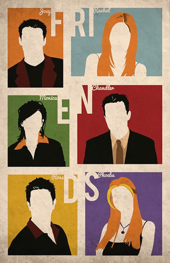 Friends poster alternative movie poster TV show poster New York print  Central Perk Joey Rachel Ross Monica Chandler Phoebe Brooklyn New York