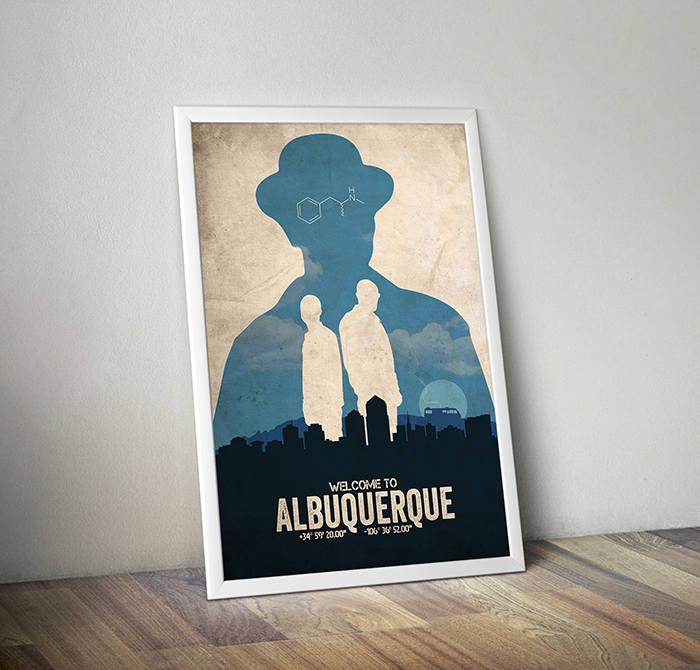 Albuquerque Breaking Bad poster alternative tv show poster   Etsy