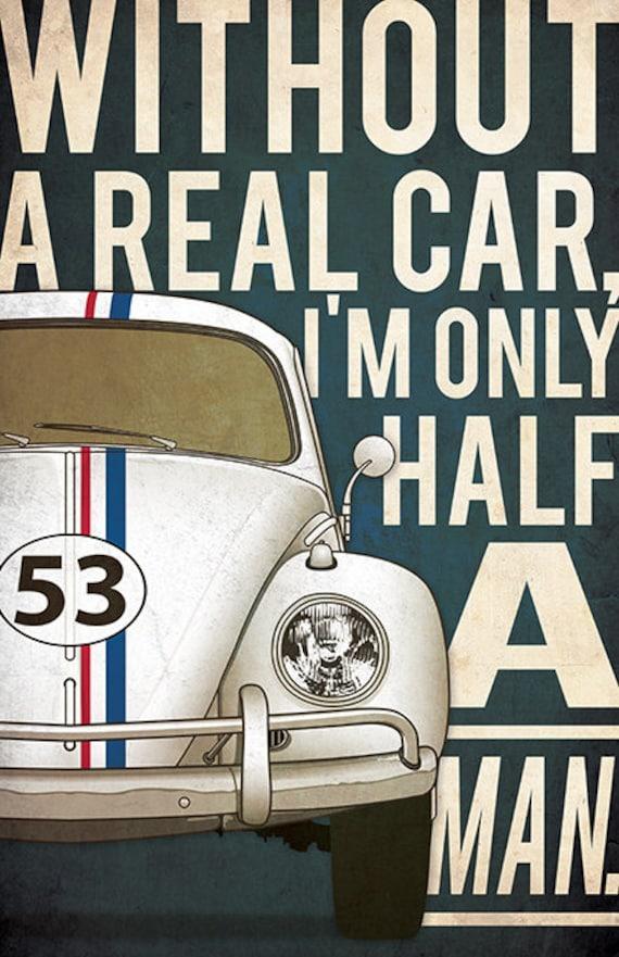 Vintage Love Bug Herbie Movie Poster A3//A2//A1 Print