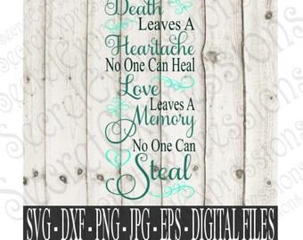 Download You left me beautiful memories Svg Sympathy SVG Digital | Etsy