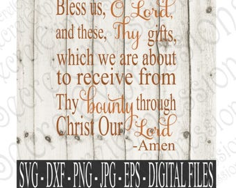 bless us o lord svg etsy