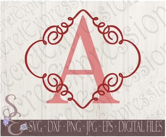 Letter A Initial Swirl Monogram Svg Wedding Anniversary Etsy