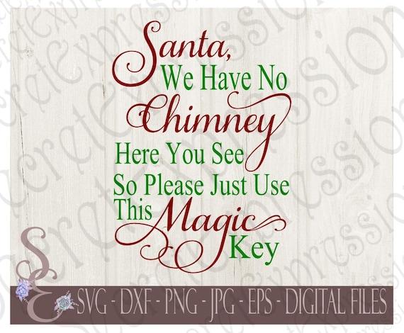 Santas Magic Key Stencil Christmas Stencil 10 Inch