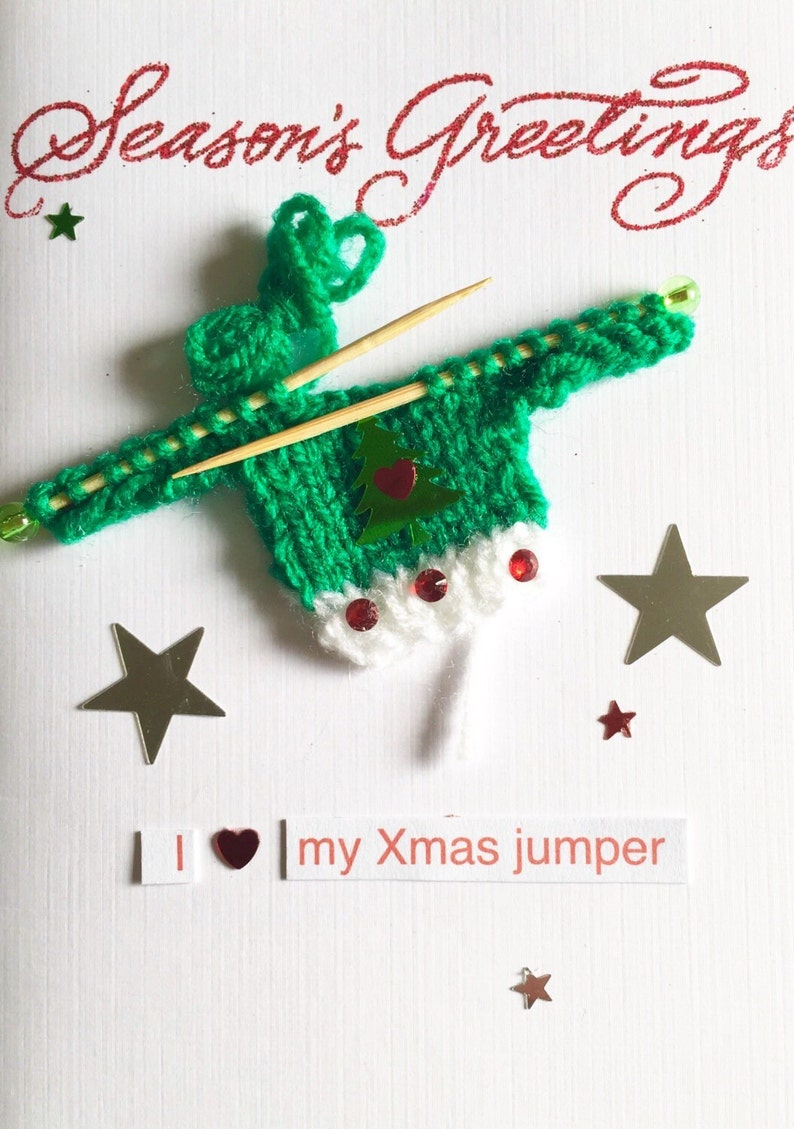 d60635e35fa900 Merry Christmas   Seasons Greetings   Happy Holidays   Knitted