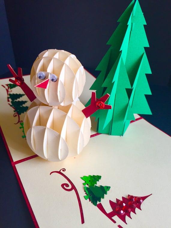 Frohe Weihnachten/Jahreszeiten Grüße/glücklich Urlaub/3D   Etsy