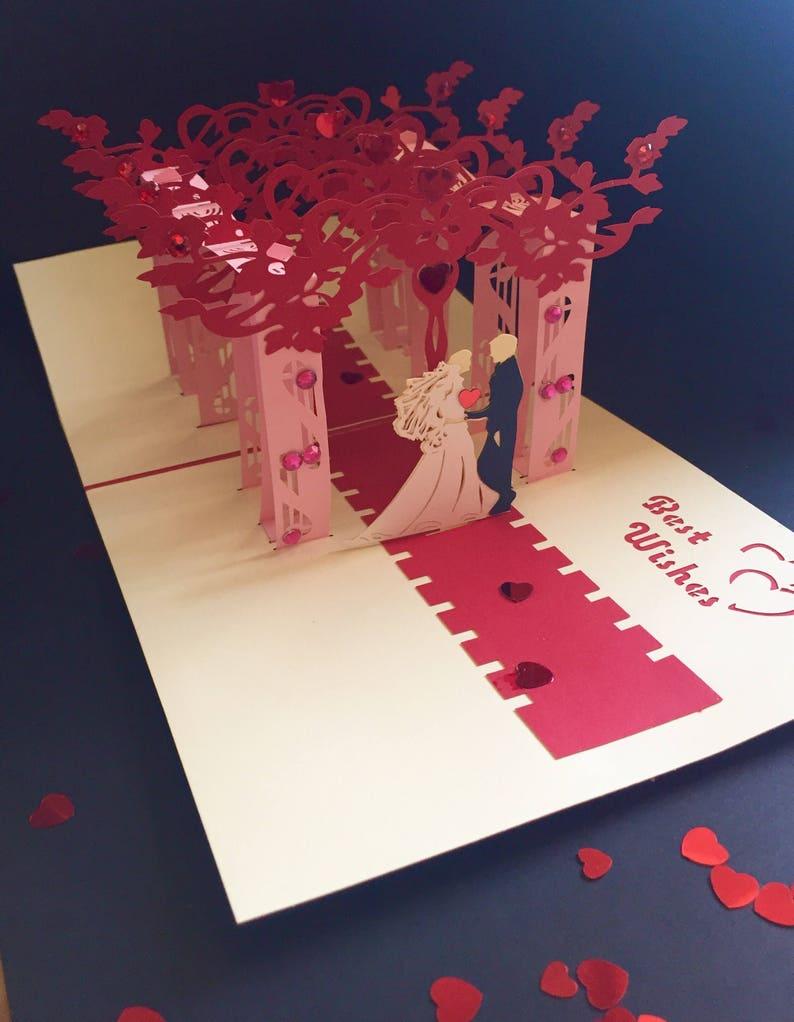 Asian WeddingJewish weddingBride/&Groom CardOn Your Wedding Day CongratulationsMarriageSpecial Occasion3D Pop Up Wedding Handmade Card