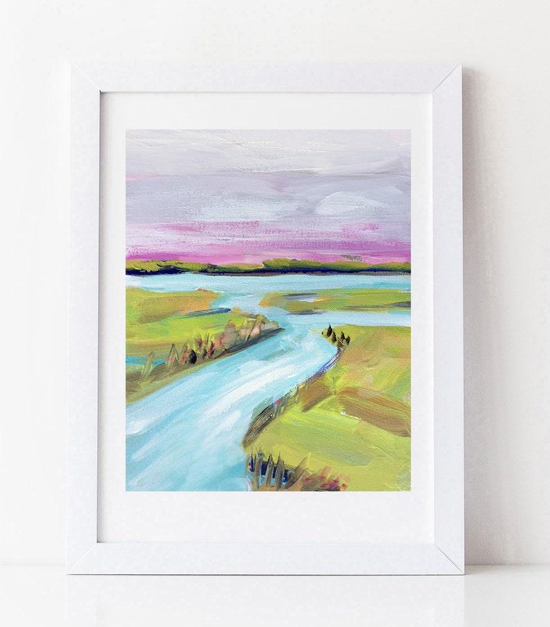 PRINT on Paper/Canvas Bright Marsh image 0