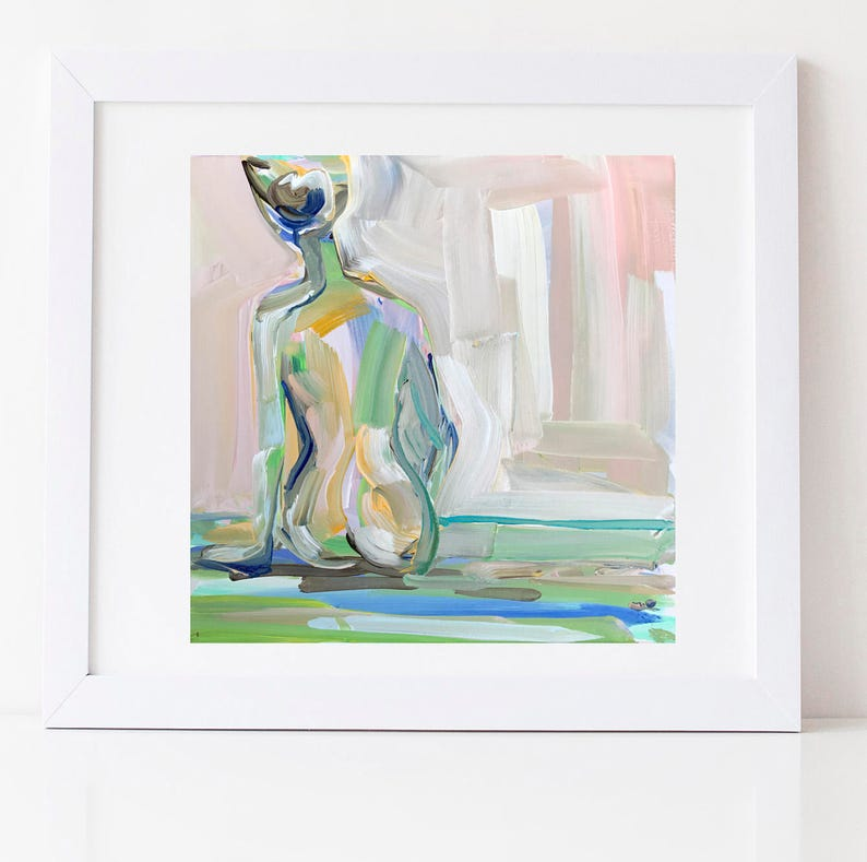 PRINT on Paper/Canvas Figure with Blush image 0