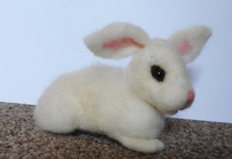 white rabbit needle felted rabbit needle felted easter bunny needle felted animal Easter bunny mothers day gift felted rabbit