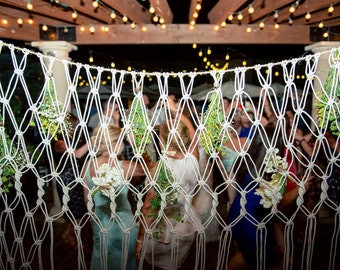 Wedding backdrop macrame