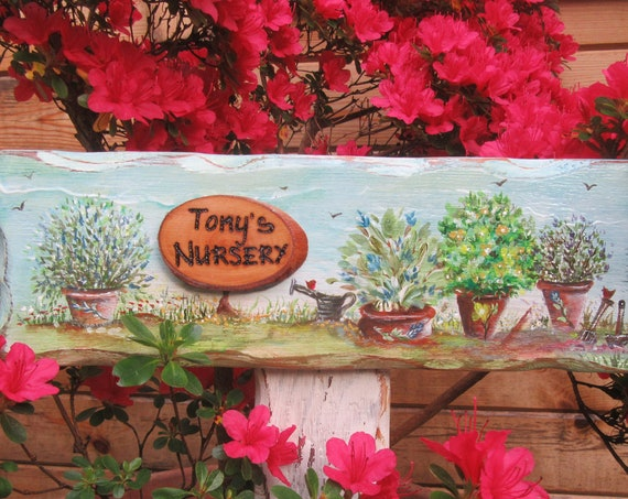 Herb Garden Sign *  Personalised  Sign * Garden Allotment Sign * Wooden Signs * Wales