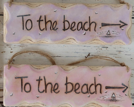 Personalised Sign * Driftwood Style * Beach Hut Sign * Illustrated Sign *