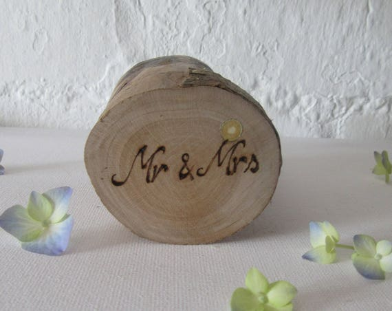 Wedding Ring Box *  Rustic ring box  * Wooden Ring Box * Jewellery box * Mr & Mrs ring box* Ring Pot * Handmade in Wales