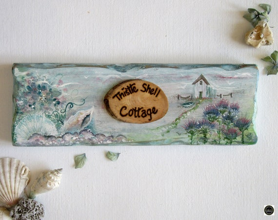 Wooden Beach Sign *  Personalised House Sign  * Beach Hut Sign * Wales *