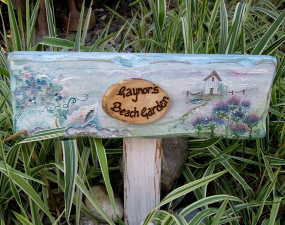 Wooden Sign *  Garden Sign *Allotment Plaque * Personalised  Sign * Wooden Beach Sign * Wales